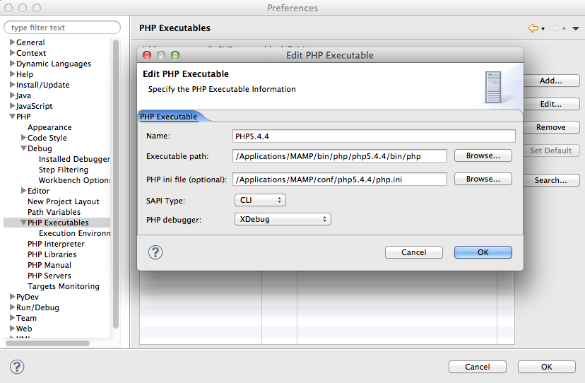 eclipse_edit_php_executable