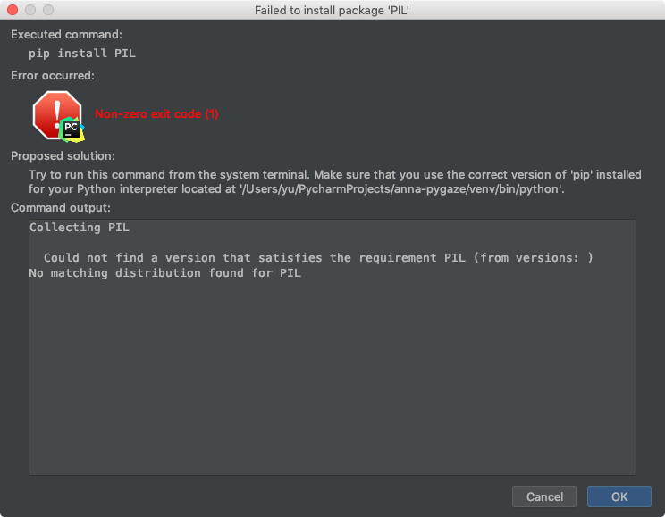 Python pip: エラー対処法 -
